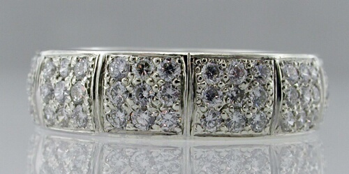 9ct white Diamond set wedding ring
