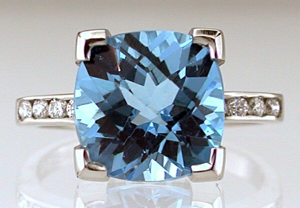Blue Topaz Tutti-Frutti ring