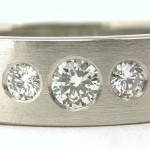 Diamond and Platinum 5 diamond wedding band