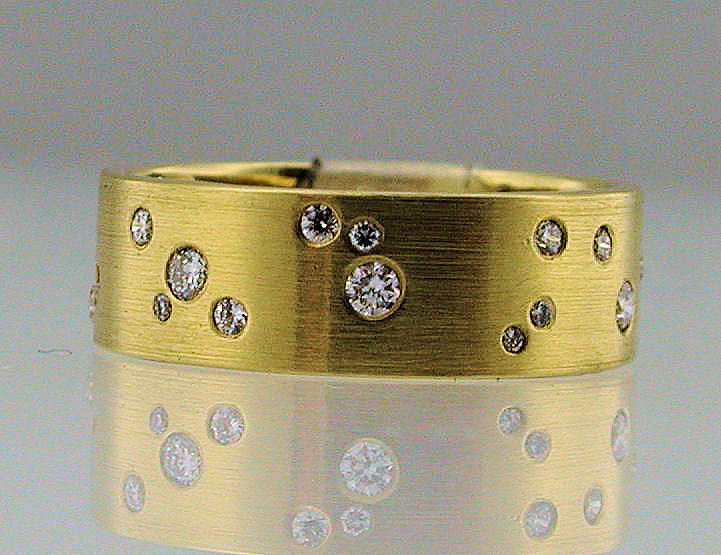 Diamond Sprinkle Ring Yellow Gold