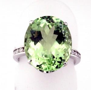 Green Tourmaline Tutti-Frutti Ring