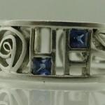 Platinum and Sapphire Wedding Ring