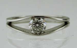 Platinum half carat 0.50ct Engagement Ring
