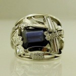 Sapphire diamond designer ring pondlife