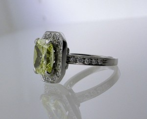 Yellow Diamond Ring Remodeling side