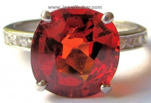Large spessartite garnet ring