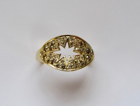 Dark Star 18ct and diamond ring